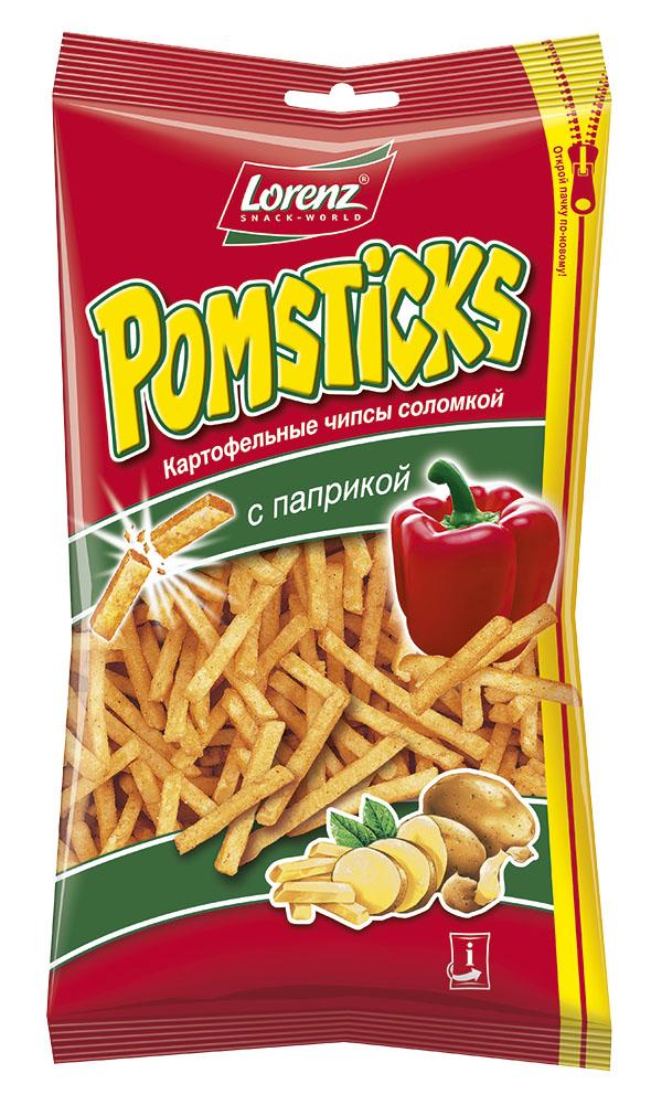 Lorenz Pomsticks картофельные чипсы с паприкой, 100 г