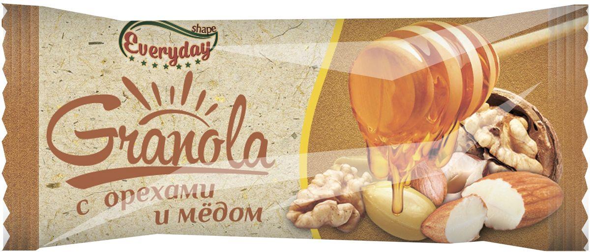 Everyday батончик-мюсли с орехами и медом, 50 г