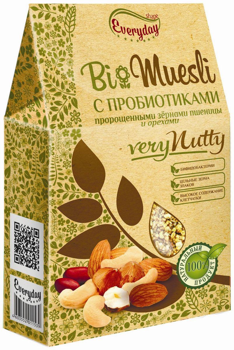 Everyday Bio мюсли с орехами и семечками, 250 г