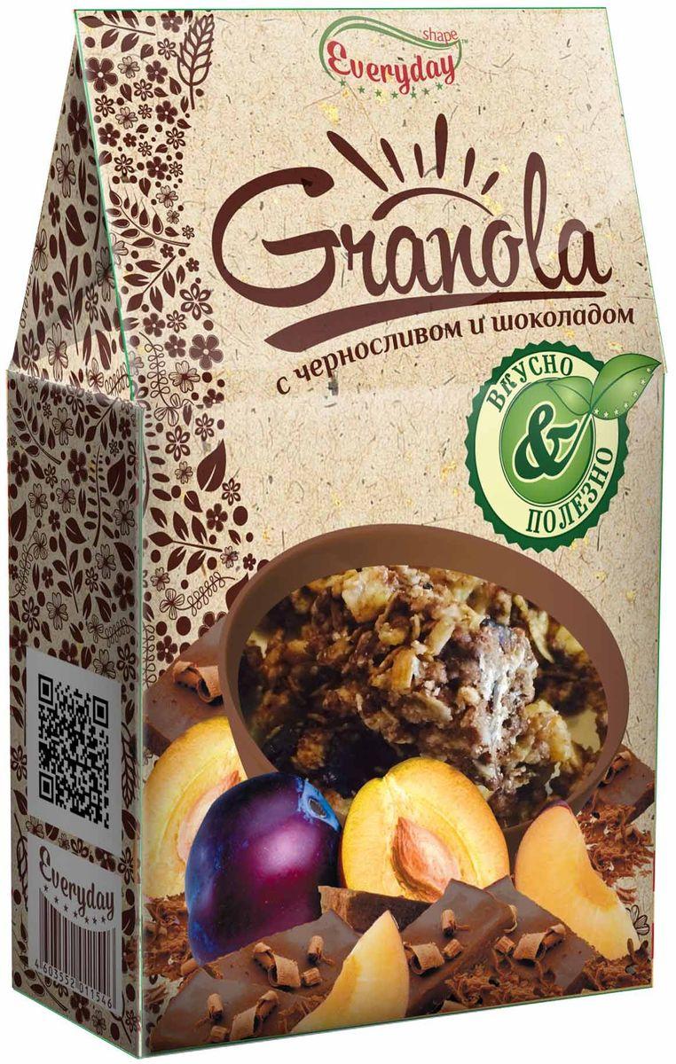 Everyday Granola хлопья злаковые с черносливом и шоколадом, 350 г