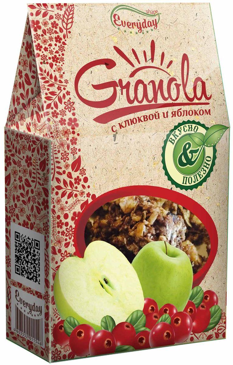 Everyday Granola хлопья злаковые с яблоком и клюквой, 350 г