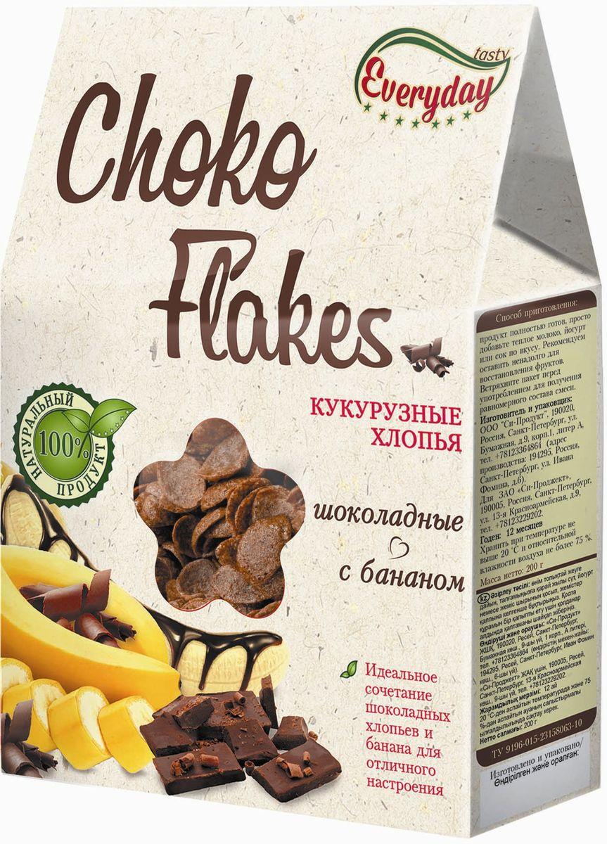 Everyday Хлопья кукурузные шоколадные с бананом, 200 г