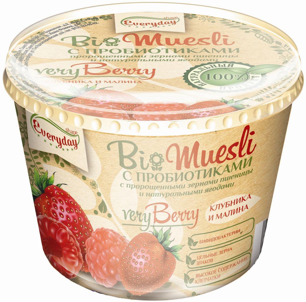 Everyday Bio мюсли с садовыми ягодами, 35 г (стакан)бйф010Продукт, предназначенный для систематического употребления в составе пищевых рационов всеми возрастными группами здорового населения.