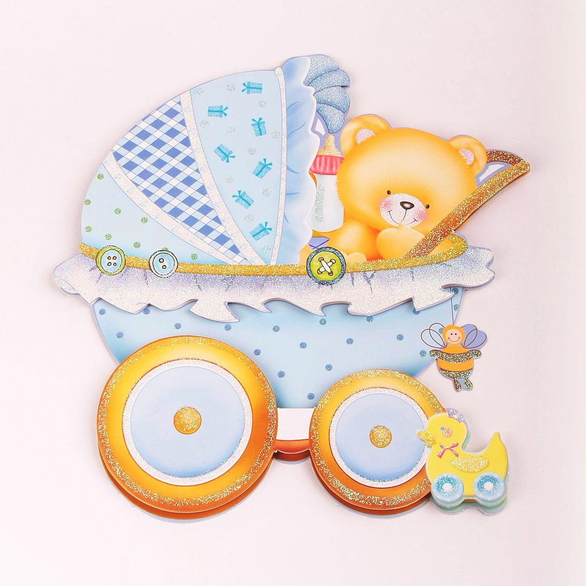 Наклейка декоративная Magic Home Мишка-малыш, 35,5 х 25 см31822Яркая, забавная наклейка украсит не только детскую комнату, но и станет отличным дополнением к любому подарку. Наклейку можно использовать как украшение стен и, например, фасадов шкафов и различных ящиков.