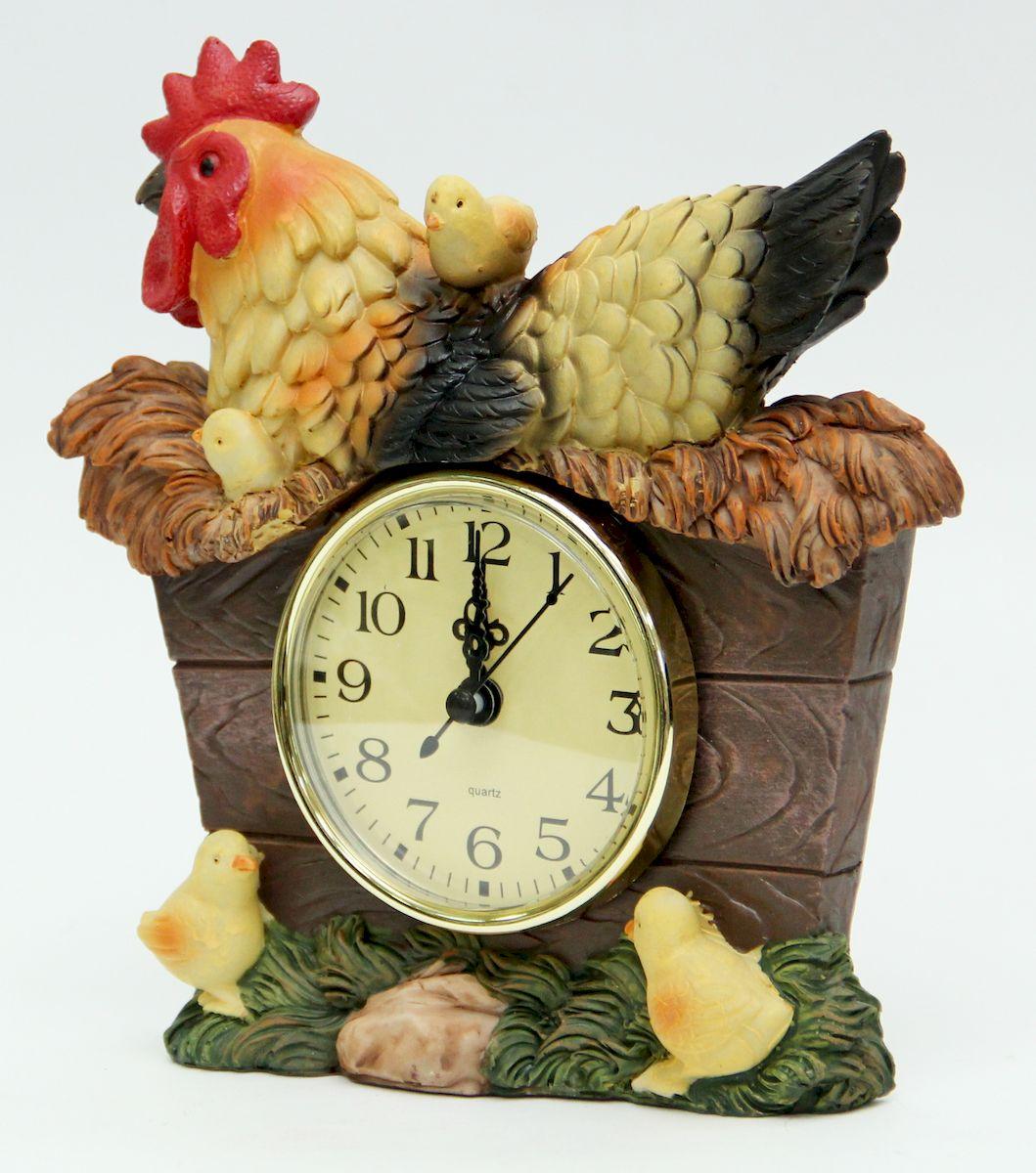 Часы настольные Magic Home Петушок. 4105941059Настольные кварцевые часы Magic Home Петушок изготовлены из полирезина, циферблат изготовлен из прочного пластика. Настольные часы Magic Home Петушок прекрасно оформят интерьер дома или рабочий стол в офисе. Элемент питания не входит в комплект.