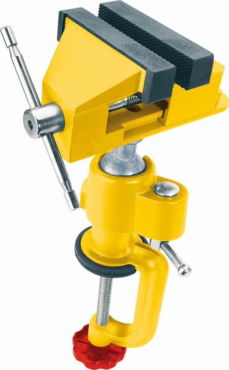 Тиски на шарнире Topex, цвет: желтый07A307Тиски на шарнире Торех это приспособление для фиксации обрабатываемых деталей. Надежное крепление заготовки обеспечивает точность выполняемой работы и является обязательным требованием по технике безопасности при выполнении многих операций: точении, резке, сверлении, шлифовании.