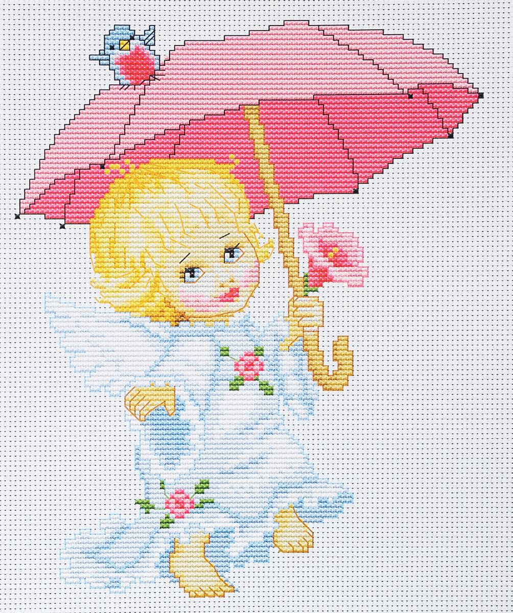 Набор для вышивания крестом Luca-S Ангелочек с зонтиком, 17 х 21 смB192Набор для вышивания крестом Luca-S Ангелочек с зонтиком поможет создать красивую вышитую картину. Рисунок-вышивка, выполненный на канве, выглядит стильно и модно. Вышивание отвлечет вас от повседневных забот и превратится в увлекательное занятие! Работа, сделанная своими руками, не только украсит интерьер дома, придав ему уют и оригинальность, но и будет отличным подарком для друзей и близких! Набор содержит все необходимые материалы для вышивки на канве в технике счетный крест. В набор входит: - канва Aida Zweigart №14 (белого цвета), - мулине Anchor - 100% мерсеризованный хлопок (22 цветов), - черно-белая символьная схема, - инструкция на русском языке, - игла. Размер готовой работы: 17 х 21 см. Размер канвы: 27 х 31 см.