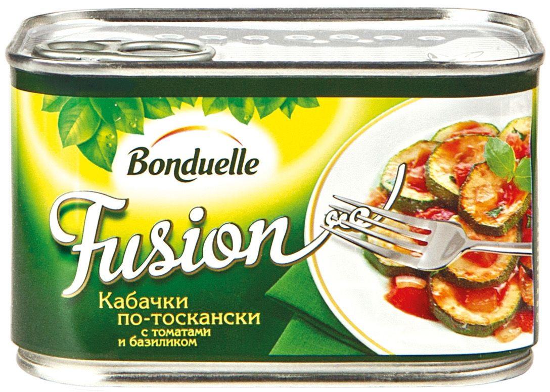 Bonduelle Фьюжн кабачки по-тоскански, 375 г4750Это самые настоящие овощные деликатесы, созданные по изысканным рецептам европейской и колониальной кухни, которые сделают любой стол особенным