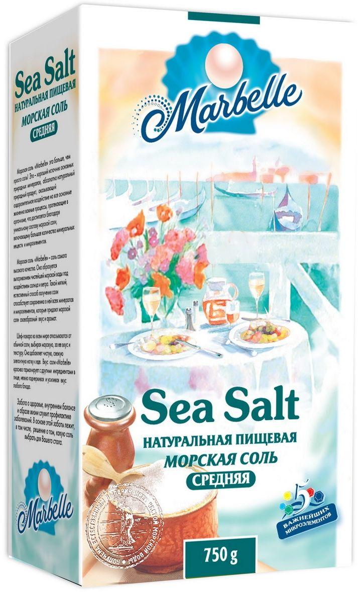 Marbelle соль морская пищевая средняя помол №1, 750 г