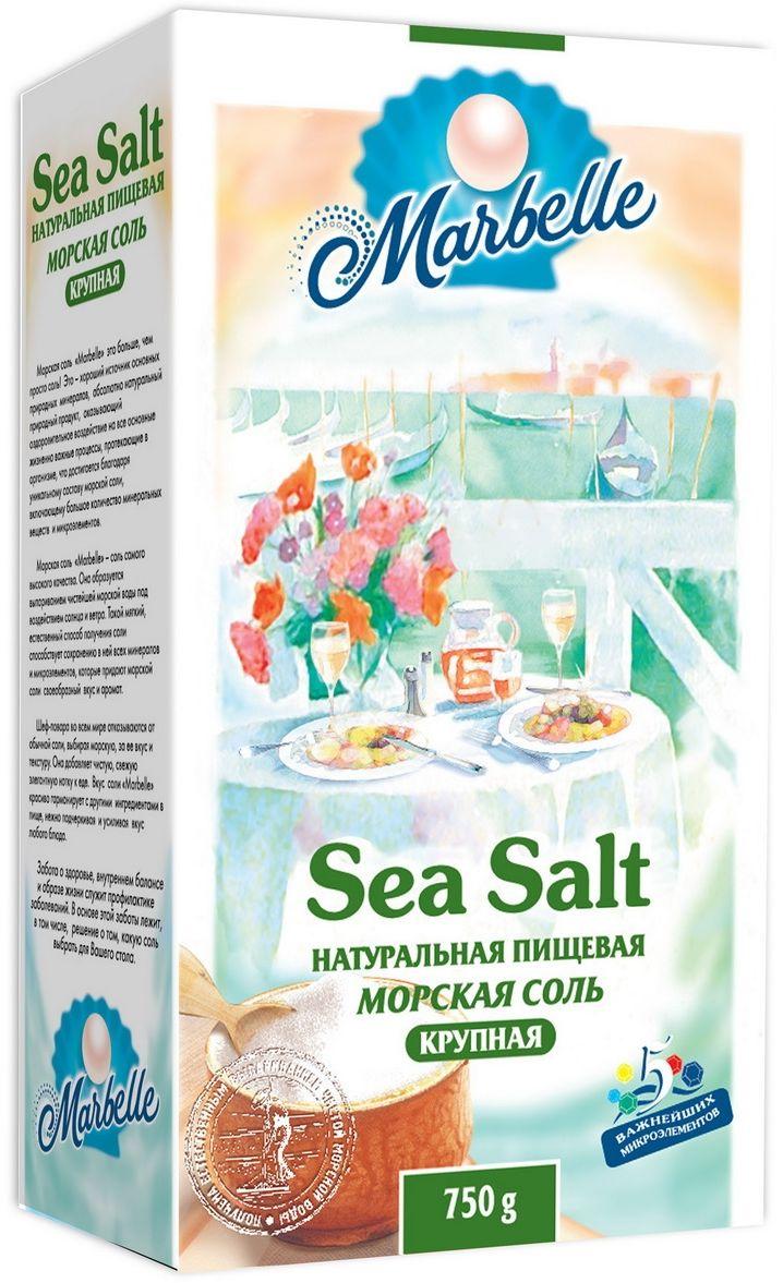 Marbelle соль морская пищевая крупная помол №3, 750 г
