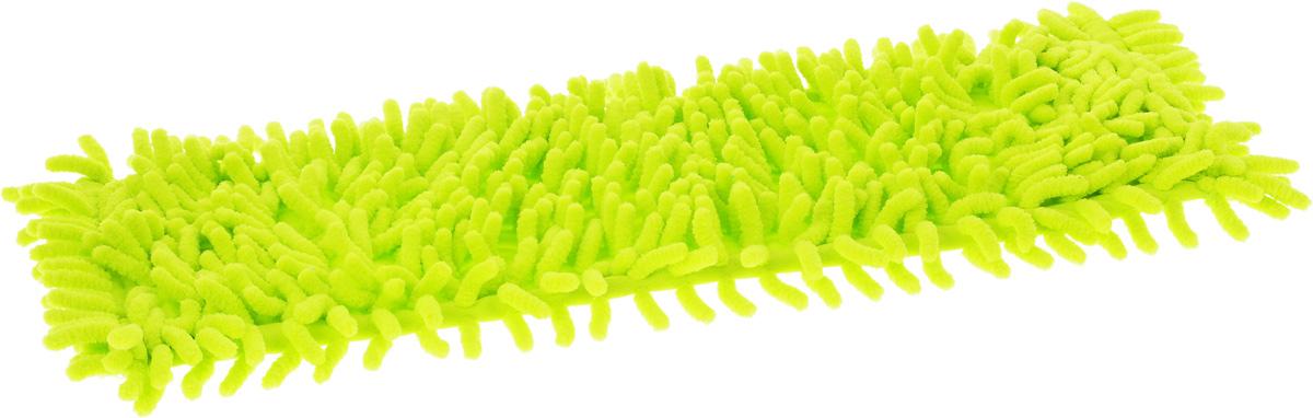Насадка для швабры Мультидом Ни соринки, цвет: салатовый, 43 х 14 х 2 смTW58-65_салатовыйСменная насадка для швабры Мультидом Ни соринки выполнена из микрофибры (100% полиэстер). Насадки из микроволокна обладают несколькими важными достоинствами: микроволокно в сухом виде в процессе протирания поверхности электризуется и притягивает к себе мельчайшие частицы пыли, а не разгоняет их по комнате. При влажной уборке, благодаря способности микрофибрового волокна поглощать влагу в семь раз больше самой ткани, насадка хорошо впитывает и удерживает влагу, забирает в структуру ткани любые загрязнения, не оставляет разводов. Использование насадки для швабры Мультидом Ни соринки позволяет очистить любые поверхности от пыли и грязи без использования химических средств.