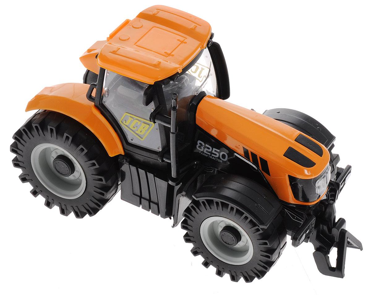 Junfa Toys Трактор инерционный Happiness FarmLH501Инерционный трактор Junfa Toys Happiness Farm привлечет внимание вашего и ребенка и станет его любимой игрушкой. Модель трактора выполнена в масштабе 1:32 и, как и полагается машине, испытывающей большие нагрузки, имеет прочный корпус. Также трактор снабжен инерционным механизмом, благодаря которому может самостоятельно проехать некоторое расстояние после осуществления предварительного разгона. Для этого игрушку нужно откатить назад и отпустить. Трактор оснащен световыми и звуковыми эффектами. Выполнено изделие из прочного пластика с металлическими элементами. Рекомендуется докупить 3 батарейки напряжением 1,5V типа LR44 (товар комплектуется демонстрационными).