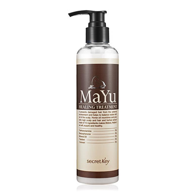 Secret Key Бальзам для волос MAYU Healing Treatment, 240 млS419Регулирует жирность, избавляет от перхоти, устраняет зуд и проблемы кожи головы. Вторая основная функция - поддержание водного баланса кожи головы и улучшение роста волос, чему способствуют 11 трав, входящих в состав средств. Также укрепляются кутикулы волос и улучшается их структура