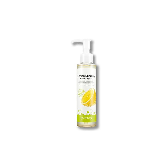 Secret Key Масло гидрофильное с экстрактом лимона Lemon Sparkling Cleansing Oil, 150 млS568Масло создано на основе экстракта лимона и газированной воды, содержит виноградное, оливковое масло, масла соевых бобов. Эффективно растворяет загрязнения в порах, черные точки, комедоны, мягко очищает кожу даже от самого стойкого макияжа, ВВ и СС кремов. Объем: 150 мл