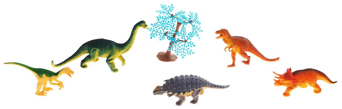 Megasaurs Набор фигурок Динозавры цвет оранжевый зеленый сиреневый 5 штSV10690_оранжевый зеленый сиреневыйВ набор фигурок Megasaurs Динозавры входят пять различных фигурок динозавров и одно дерево, с которыми можно разыграть разнообразные игровые сюжеты, связанные с периодом, в котором жили одни динозавры. Фигурки изготовлены из высококачественных нетоксичных материалов, абсолютно безопасных для вашего малыша. Тема эпохи динозавров никогда не останется в прошлом! Каждый ребенок, так или иначе, интересовался этим доисторическим миром и мечтал о своем собственном динозавре. Удивительные фигурки динозавров с высокой детализацией и тщательной проработкой элементов не оставят равнодушным ни одного ребенка.