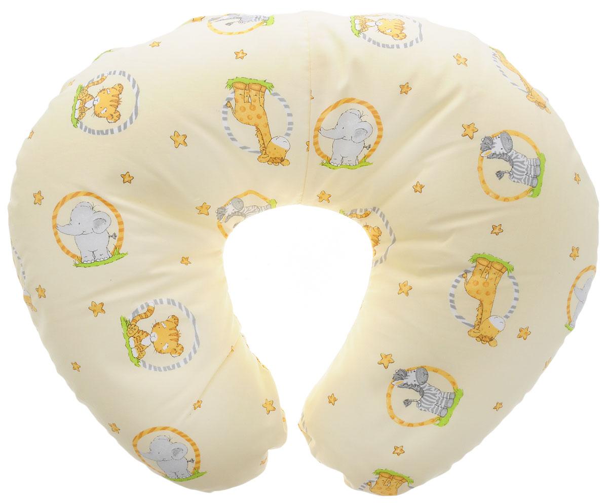 Plantex Подушка для кормящих и беременных мам Comfy Small Слон и зебра ( 01030_слон и зебра светло-желтый )