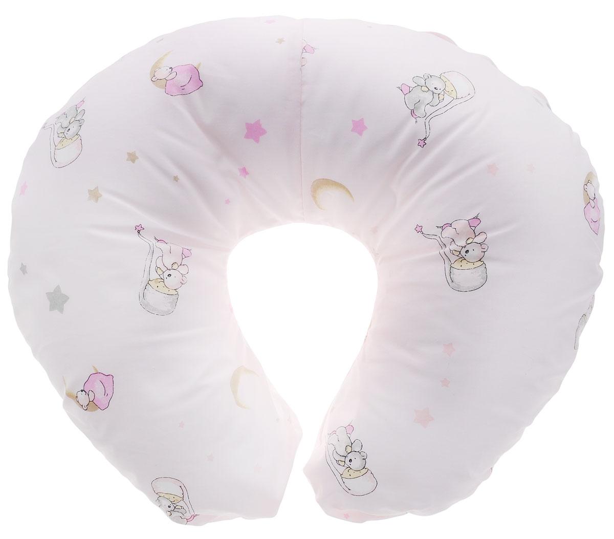 Plantex Подушка для кормящих и беременных мам Comfy Small Мальчик с мишкой цвет белый ( 1030_мальчик с мишкой белый )