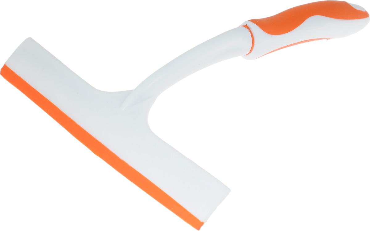 Сгон для воды Мультидом, цвет: оранжевый, белый, длина 28 смYM58-40_оранжевыйСгон для воды Мультидом предназначен для поддержания чистоты стеклянных и зеркальных поверхностей. Незаменим для сгона излишков воды при мытье окон и зеркал дома и в автомобиле. Аксессуар снабжен удобной нескользящей прорезиненной ручкой с отверстием для подвешивания. Изготовлен из полипропилена и термопластичной резины. Ширина щетки: 22 см. Длина ручки: 21 см.