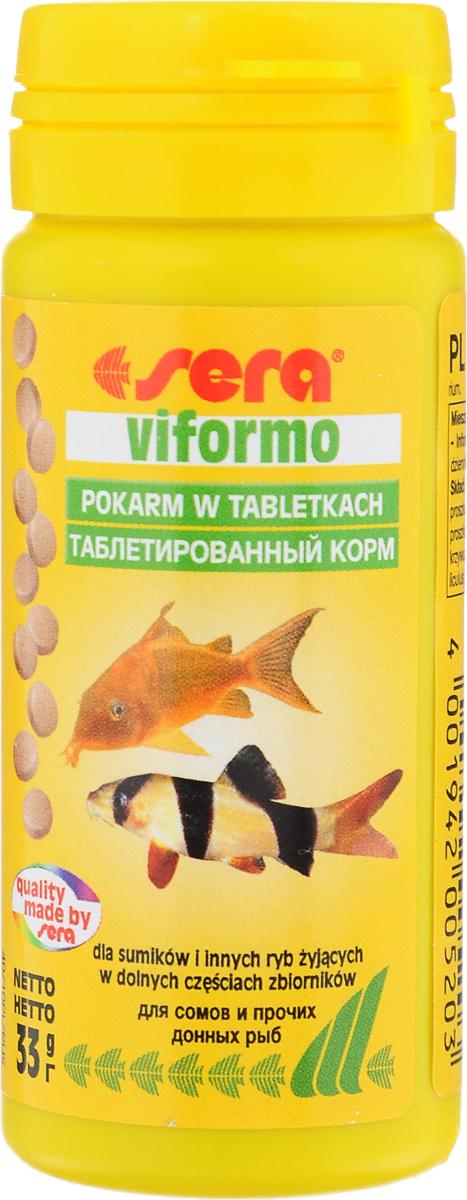 Корм таблетированный для сомиков и вьюновых Sera Viformo, 130 таблеток15988Быстро погружающиеся маленькие таблетки Sera Viformo предназначены для целенаправленного кормления всех видов донных рыб. Таблетки имеют высокое содержание растительных компонентов и спирулины. Благодаря длительному сохранению стабильной формы, таблетка остается привлекательной для рыб надолго и излишне не загрязняет воду.