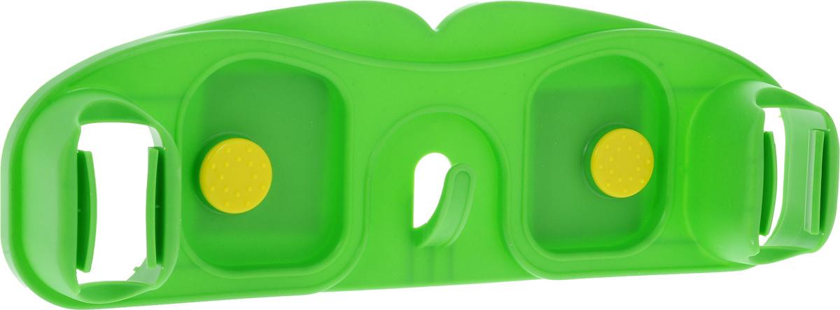 Вешалка-держатель для щеток Мультидом, цвет: зеленый, 30 х 10 смDH58-12_зеленыйВешалка-держатель Мультидом, изготовлена из прочного пластика, предназначена для размещения хозяйственного инвентаря (щеток, швабр, совков) на стенах, дверях. Изделие надежно фиксирует инвентарь с помощью двух держателей для швабр (щеток) и крючка. Инвентарь легко закрепить и извлечь. Крепится к горизонтальной поверхности липкой лентой или при помощи 2 шурупов (не входят в комплект).
