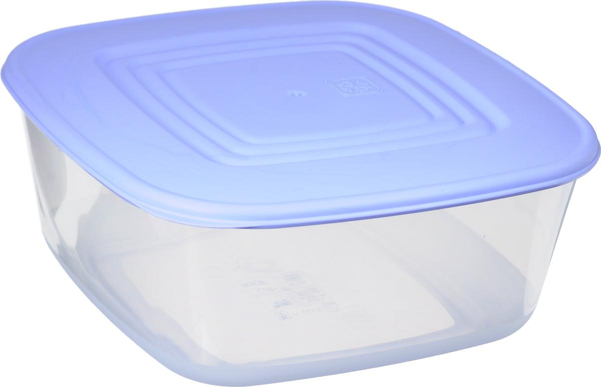 Контейнер для пищевых продуктов Алеана, цвет: сиреневый, прозрачный, 3 л167015_сиреневый, прозрачныйКонтейнер Алеана квадратной формы, изготовленный из прочного полипропилена, предназначен специально для хранения пищевых продуктов. Крышка легко открывается и плотно закрывается. Контейнер устойчив к воздействию масел и жиров, легко моется. Прозрачные стенки позволяют видеть содержимое. Контейнер имеет возможность хранения продуктов глубокой заморозки, обладает высокой прочностью. Можно мыть в посудомоечной машине. Подходит для использования в микроволновых печах.