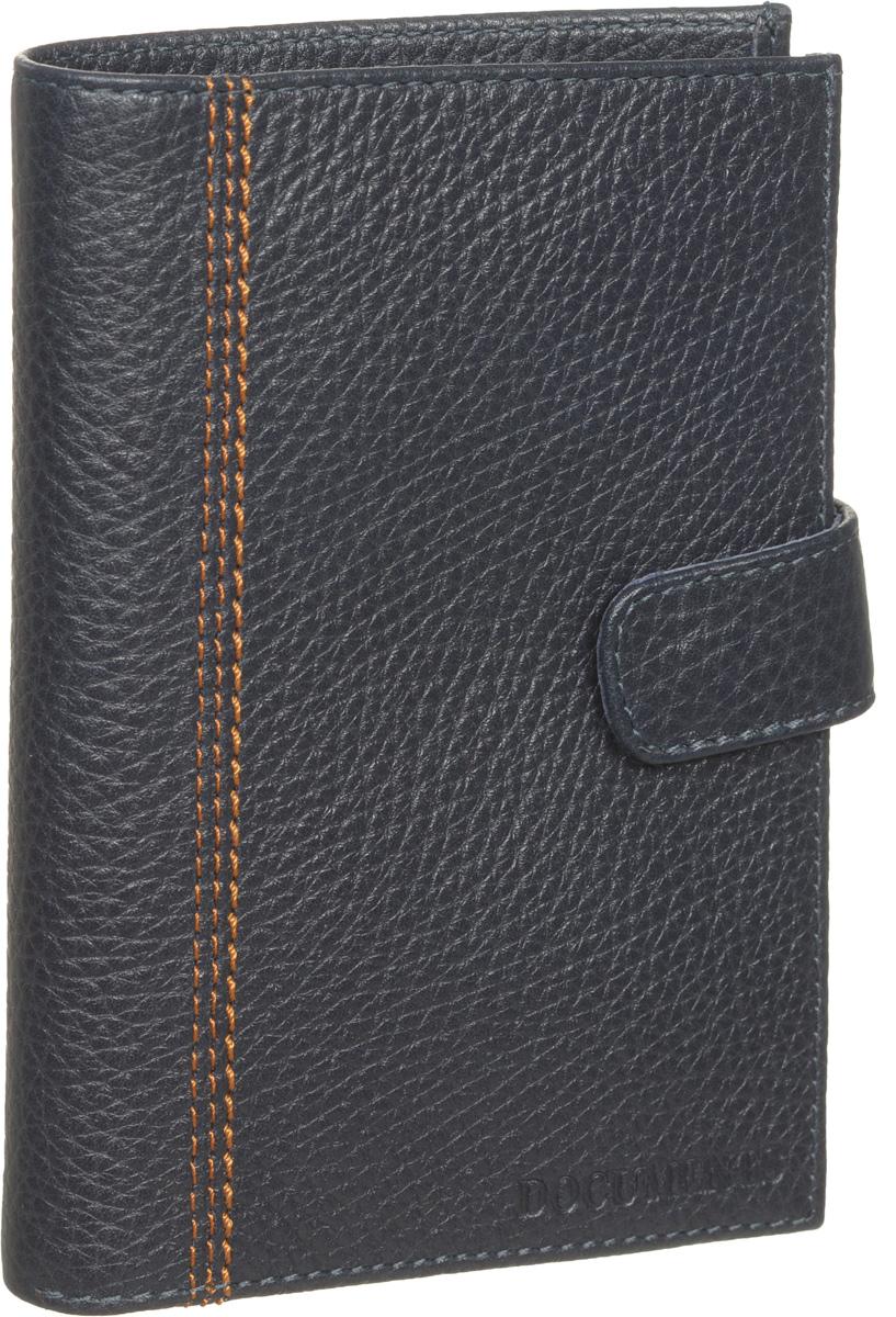 Бумажник водителя мужской Fabula Brooklyn, цвет: синий. BV.8.BRBV.8.BR синийМужской бумажник водителя Fabula Brooklyn изготовлен из натуральной кожи с фактурным тиснением. Лицевая сторона оформлена прострочкой. На внутреннем развороте имеется отделение для паспорта на застежке-кнопке, два отделения для купюр, пять прорезных карманов для пластиковых карт, четыре боковых кармана и внутренний блок из прозрачного пластика для документов водителя, состоящий из шести карманов. Модель закрывается хлястиком на застежку-кнопку. Изделие упаковано в фирменную коробку. Такой бумажник не только защитит ваши документы, но и станет стильным аксессуаром, который прекрасно дополнит образ.
