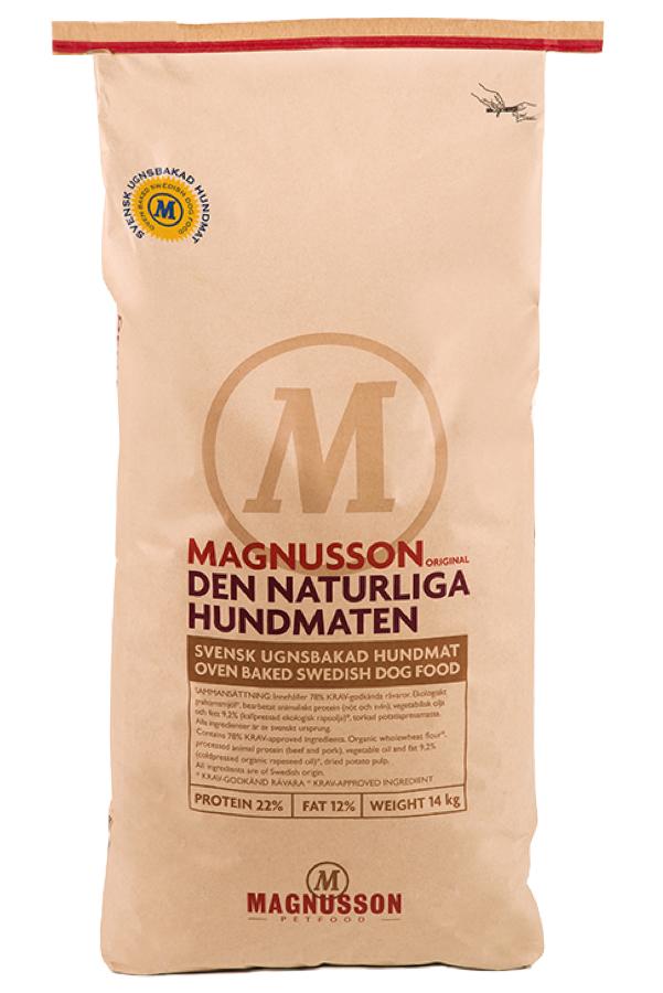 Корм сухой Magnusson Original Naturliga, для сильных аллергиков и чувствительных к питанию собак, 14 кг7350033851456Cамый чистый и простой корм Магнуссон – всего 4 ингредиента в составе. Идеально подходит для собак склонных к аллергии, белых собак и для тех владельцев, которые не могут определиться каким кормом начать кормить своего питомца. В Натурлигу не добавляется свежая морковь и свежие яйца, как в линейке Мит&Бисквит, отсутствуют пивные дрожжи, как в остальных кормах линейки Ориджинал. Как в любом корме Магнуссон, в Натурлиге нет никаких добавок и консервантов. Если Вы не можете выбрать с какого корма Магнуссон начать кормить – начните с Натурлиги! Корм можно давать как в сухом, так и размоченном виде. Не стоит заливать корм бульоном или молоком, лучше всего использовать воду. Определите количество корма, которое Вы хотите дать Вашей собаке. Добавьте в миску теплую воду так, чтобы она покрывала корм. Перемешайте и оставьте на 10 минут. Не забывайте, что Ваша собака всегда должна иметь свободный доступ к чистой питьевой воде. Количество корма варьируется в зависимости от породы,...