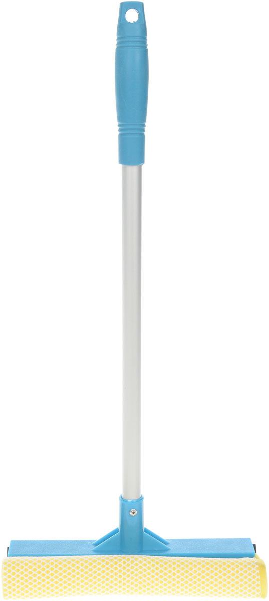 Щетка для окон Мультидом, цвет: синий, длина ручки 43 смYM58-129_синийЩетка Мультидом предназначена для мытья окон, зеркал, керамической плитки и других поверхностей. Щетка снабжена губкой и сгоном. Жесткое крепление щетки к ручке обеспечивает изделию долгий срок эксплуатации. Ручка выполнена из прочного алюминия, губка из поролона. Длина ручки: 43 см. Размер рабочей части: 21 х 7,5 см.
