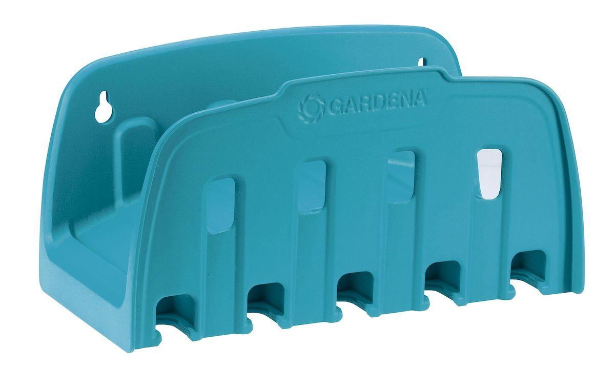 Кронштейн настенный для шланга Gardena 00241-20.000.0000241-20.000.00Настенный кронштейн Gardena предназначается для хранения шланга. Шланг можно быстро и просто убрать на хранение. Практичный вариант размещения наконечников, распылителей или дождевателей. Инструменты всегда под рукой. Это компактное и полезное приспособление облегчает полив. Настенный кронштейн обеспечивает быструю намотку, а также легкое и компактное хранение садового шланга. Максимальная емкость 13 мм (1/2) - 35 м; Максимальная емкость 15 мм (5/8) - 25 м; Максимальная емкость 19 мм (3/4) - 20 м.