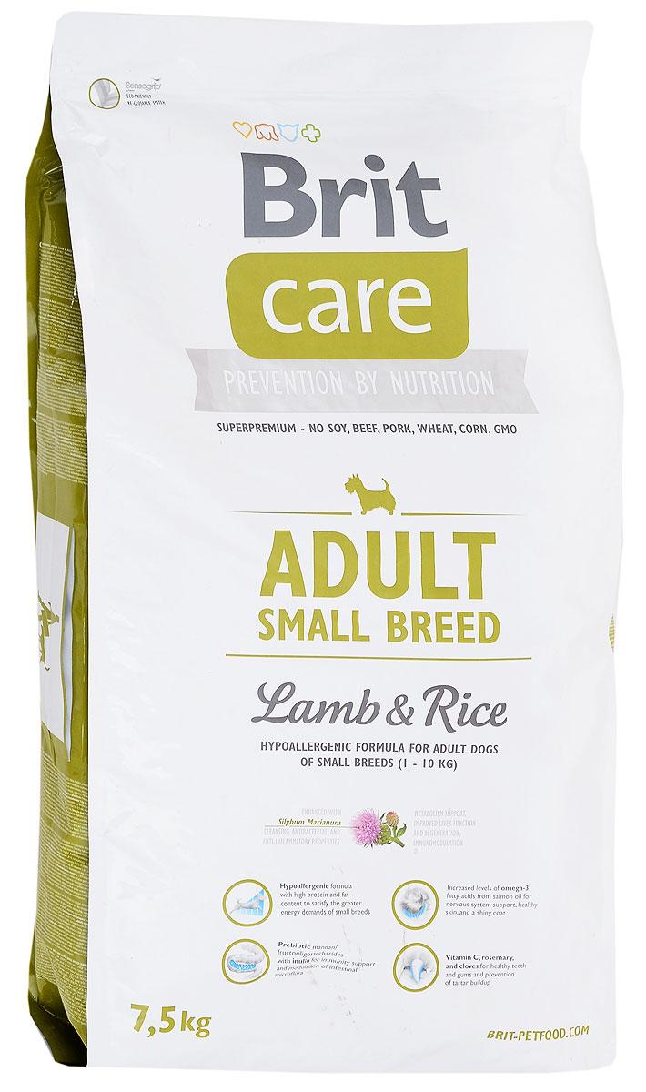 Корм сухой Brit Care Adult Small Breed для собак мелких пород, с ягненком и рисом, 7,5 кг100201Сухой корм Brit Care Adult Small Breed содержит все питательные вещества, витамины и минералы, необходимые собакам. Благодаря специальным добавкам, корм Brit Care Adult Small Breed: Улучшает состояние шерсти и кожи. Оптимальное соотношение омега-3 и омега- 6 жирных кислот с органическим цинком и медью обеспечивает здоровое состояние кожи и улучшает качество шерсти; Высокое содержание протеинов. Оптимальное соотношение аминокислот (идеальный протеин) обеспечивает высокую усвояемость белков для мышечной ткани; Поддерживает иммунитет и охрану здоровья. MOS (маннано-олигосахариды) поддерживают хорошее состояние пищеварительного тракта и уменьшают количество патогенной микрофлоры в кишечнике; Содержит фактор, замедляющий старение - защиту от свободных радикалов. Высокое содержание витамина Е и органического селена обеспечивают защитный комплекс антиокислителей; Поддерживает кишечную микрофлору. FOS (фрукто-олигосахариды) оказывают благоприятное...