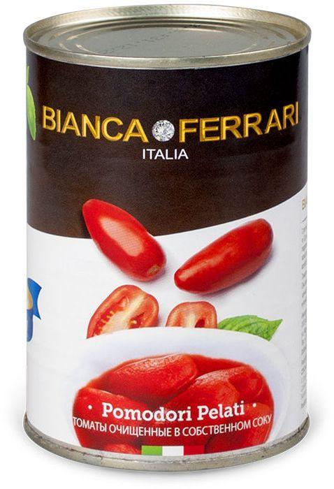 Bianca Ferrari Пелати помидоры очищенные в собственном соку, 400 г