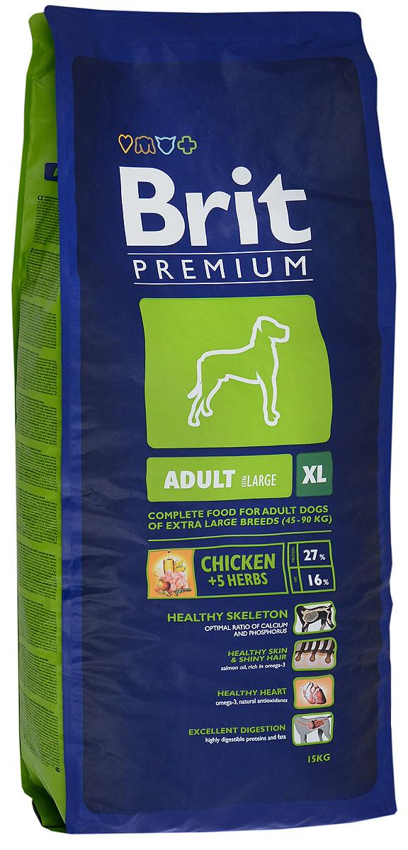 Корм сухой Brit Premium Adult XL для взрослых собак гигантских пород, с курицей и травами, 15 кг132327Сухой корм Brit Premium Adult XL - это полноценное и сбалансированное питание для взрослых собак (30 месяцев - 5 лет) гигантских пород весом от 45 кг. Рекомендуется для следующих пород: анатолийская овчарка, бернский зенненхунд, русский черный терьер, бульмастиф, кане корсо, бордоский дог, эштрельская горная собака, фила бразилейро, дог, пиренейская горная собака, ирландский волкодав, комондор, ландсир, леонбергер, неаполитанский мастиф, ньюфаундленд, ротвейлер, сен-бернар, испанский мастиф, тосас. Состав: мука из мяса курицы (41%), рис, кукуруза, пшеница, куриный жир (консервированный токоферолами), масло лосося, пивные дрожжи, натуральные ароматизаторы, сушеные яблоки, минеральные вещества, экстракт из трав и фруктов (300 мг/кг), глюкозамин гидрохлорид (260 мг/кг), хондроитин сульфат (160 мг/кг), мананоолигосахариды (150 мг/кг), фруктоолигосахариды (100 мг/кг), экстракт юкки шидигеры (80 мг/кг), органическая Е4 медь, органический Е6 цинк, органический...