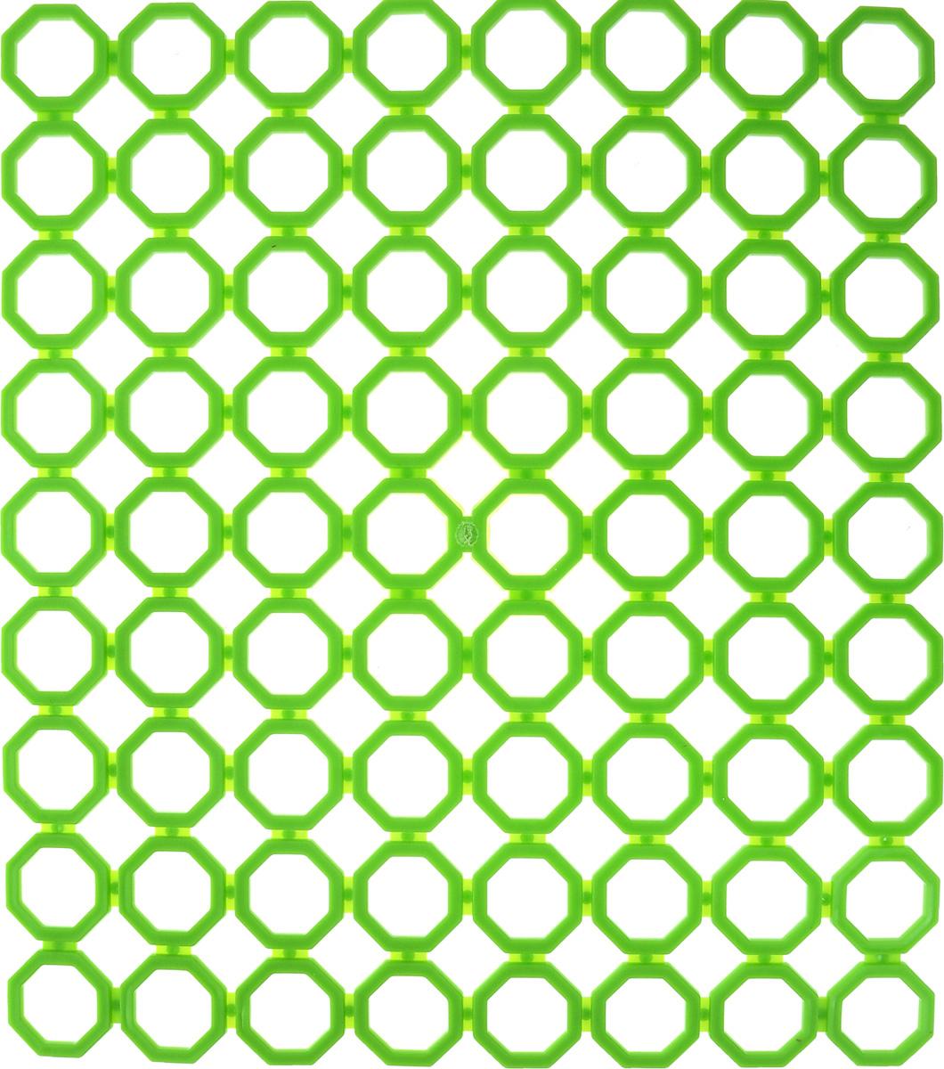 Коврик для раковины York, цвет: зеленый, 29 х 25,7 см9562_зеленыйСтильный и удобный коврик для раковины York изготовлен из сложных полимеров. Он одновременно выполняет несколько функций: украшает, защищает мойку от царапин и сколов, смягчает удары при падении посуды в мойку. Коврик также можно использовать для сушки посуды, фруктов и овощей. Он легко очищается от грязи и жира.