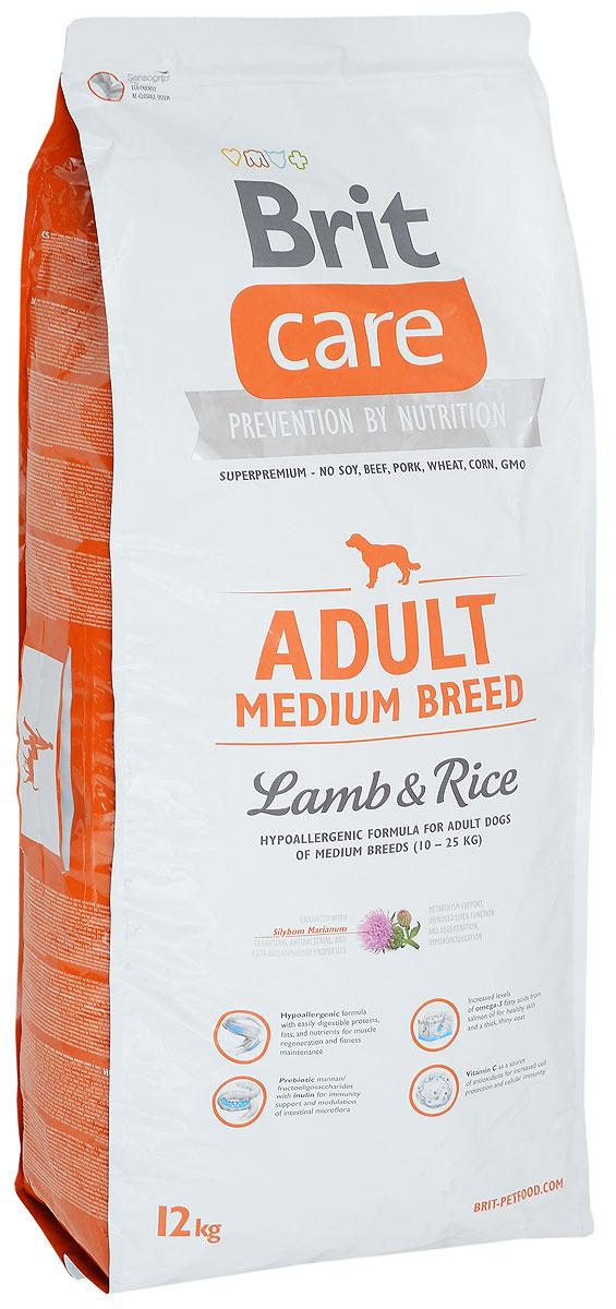 Корм сухой Brit Care Adult Medium Breed для взрослых собак средних пород, с ягненком и рисом, 12 кг60828Сухой корм Brit Care Adult Medium Breed - это полноценный рацион для взрослых собак средних пород. Экстракт юкки защищает кишечник и печень от токсичности аммиака и предотвращает разложение гемоглобина. Оптимальное соотношение Омега-3 и Омега-6 жирных кислот с органическим цинком и медью обеспечивает здоровое состояние кожи и улучшает качество шерсти. Товар сертифицирован.