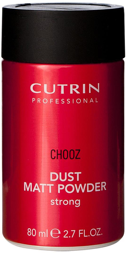 Cutrin Матирующая пудра сильной фиксации Dust Matt Powder, 80 мл12772Великолепное средство для создания текстурных объемных укладок на коротких волосах, создает матовый эффект. Устраняет излишнюю жирность волос, позволяя реже мыть волосы.
