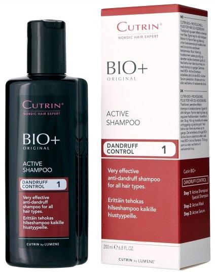 Cutrin Активный шампунь против перхоти Active Shampoo, 200 мл14222Традиционный, чрезвычайно эффективный шампунь против перхоти. Предназначен для лечения серьезной, особенно жирной, перхоти, подходит для всех типов волос. Активный ингредиент - Пироктон Оламин. Удаляет перхоть, снимает зуд, нормализует работу сальных желез. Деготь заменен новым североевропейским ингредиентом - экстрактом побегов можжевельника, который успокаивает кожу головы.