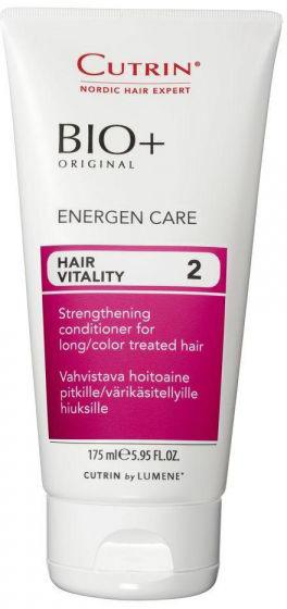 Cutrin Энергетический бальзам для женщин Energen Care, 175 мл14235Укрепляет и питает длинные и окрашенные волосы. Может применяться совместно с любым из шампуней BIO+, наиболее эффективен в комплексе с Шампунем - энергия BIO+.