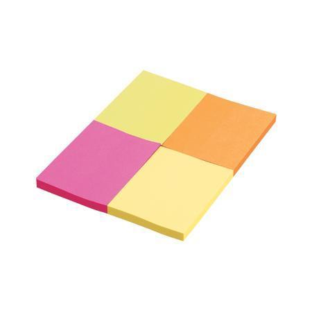 Клейкая бумага для заметок Proff Alpha 38 х 50 мм цвет желтый розовый оранжевый салатовый 200 шт