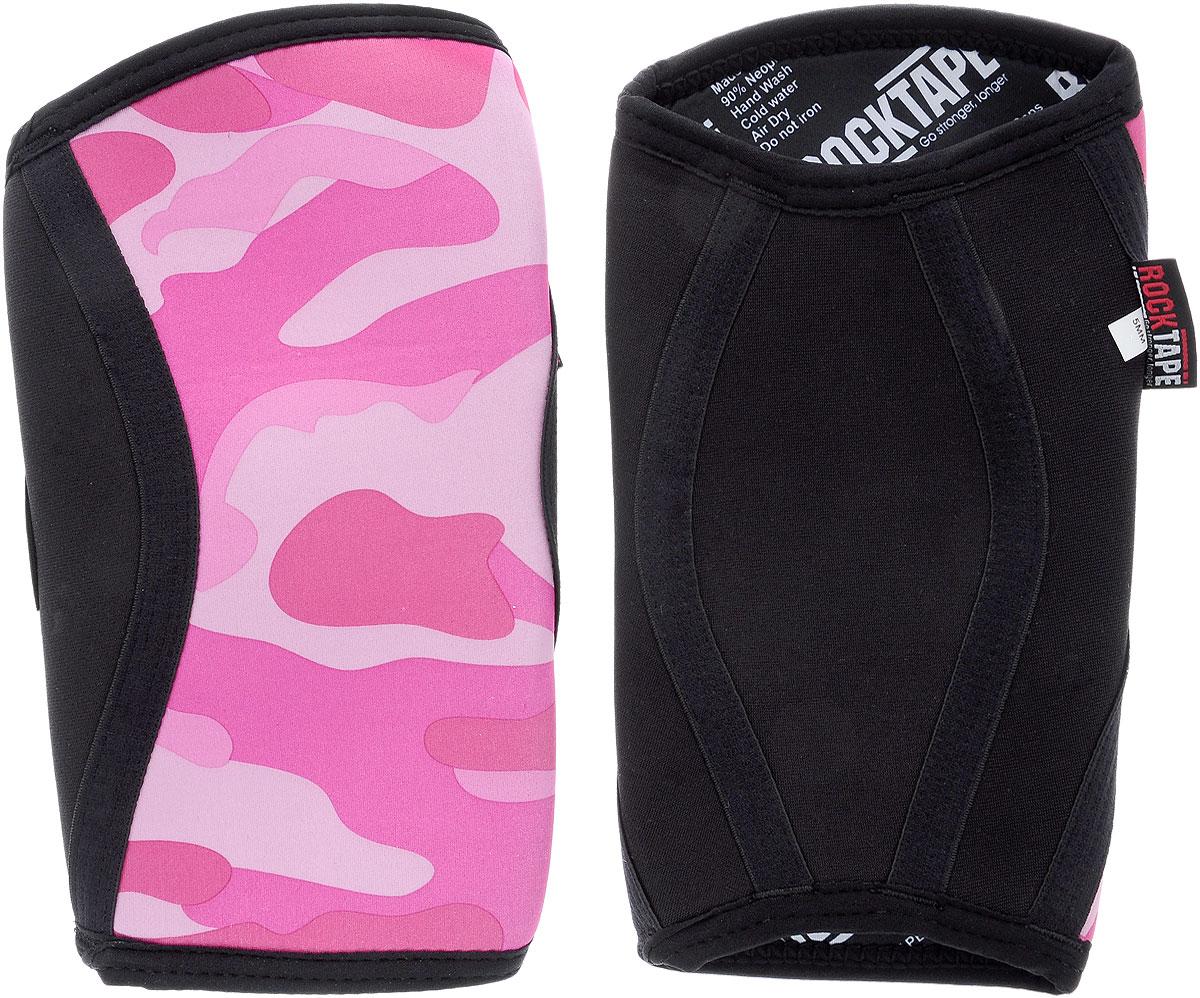 Наколенники Rocktape KneeCaps, цвет: белый, розовый, светло-розовый, черный, толщина 5 мм. Размер MRTKnCps-Pnk-5-MRocktape KneeCaps - это компрессионные наколенники для тяжелой атлетики/CrossFit. Наколенники созданы специально, чтобы обеспечить компрессионный и согревающий эффект, а также придать стабильность коленному суставу для выполнения функциональных движений, таких как становая тяга, пистолет, приседания со штангой. В отличие от аналогов, наколенники Rocktape KneeCaps более высокие и разработаны специально для компрессии VMO (косой медиальной широкой мышцы бедра) в месте ее прикрепления над коленной чашечкой, чтобы обеспечить надлежащую стабилизацию колена и контроль. Помимо стабилизации, они создают компрессионный и согревающий эффект, что улучшает кровоток. Толщина: 5 мм. Обхват колена: 34-37 см.