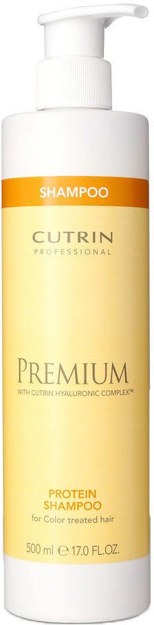 Cutrin Шампунь Премиум-Восстановление для окрашенных волос Premium Protein Shampoo, 500 млCUC05-12912Шампунь для интенсивного восстановления поврежденных окрашенных волос. Восстанавливает и улучшает структуру сухих окрашенных волос. Шампунь великолепно пенится и глубоко очищает волосы. Обогащен протеинами и гидролизованым кератином, которые восстанавливают структуру волос изнутри.