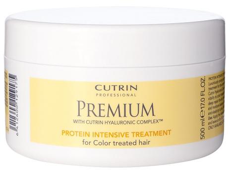 Cutrin Интенсивная маска Премиум-Восстановление для окрашенных волос Premium Protein Intensive Treatment , 500 млCUC05-12917Маска оказывает мощный восстанавливающий эффект на сухие, поврежденные окрашенные волосы. Протеин пшеницы и гидролизованный кератин восстанавливают поврежденную структуру волос изнутри, придавая им тонус и эластичность. Экстракт арктической родиолы розовой укрепляет волосы, масло ши оказывает ухаживающее воздействие. Маска содержит увлажняющий комплекс с гиалуроновой кислотой Cutrin Hyaluronic ComplexTM и превосходно увлажняет кожу головы и волосы. УФ-фильтр защищает яркость и блеск окрашенных волос от потускнения.