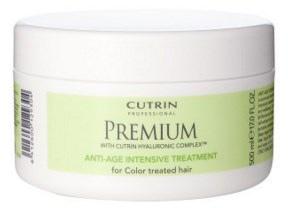 Cutrin Интенсивная маска Премиум-Омоложение для окрашенных волос Premium Protein Intensive Treatment, 150 млCUC05-12929Cutrin Premium — это профессиональная косметика для ухода за окрашенными волосами на основе уникальной инновационной формулы Cutrin Hyaluronic Complex™ с гиалуроновой кислотой. Линия Cutrin Premium восстанавливает структуру волос и кожу головы после процедуры окрашивания, насыщает их влагой, придает блеск и омолаживает. Помимо этого, все средства обладают восхитительными запахами, их использование подарит вам приятные эмоции! Cutrin Premium — это восхитительно красивые, искрящиеся, яркие и здоровые волосы, которые будут приковывать взгляды!