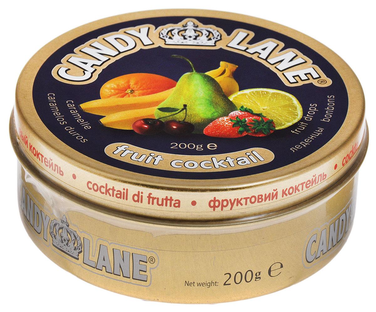 Candy Lane Фруктовый коктейль фруктовые леденцы, 200 г
