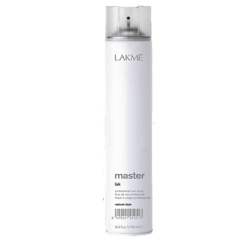 Lakme Лак для волос нормальной фиксации Lak Natural Style, 750 мл45451Лак для волос нормальной фиксации Lakme Master Lak Natural Style - профессиональный лак для волос нормальной фиксации, придающий волосам блеск и мягкость. Идеален для завершения укладки. Легко удаляется при расчесывании. Предохраняет волосы от воздействия влаги и внешних агрессивных факторов. Не оставляет налета. Экономичен в использовании.