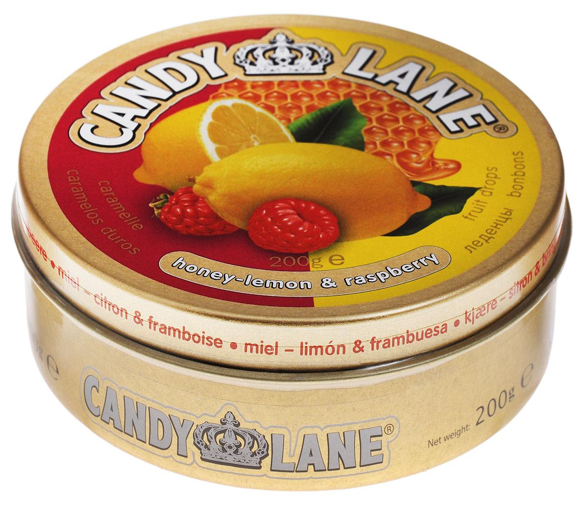 Candy Lane Мед, лимон и малина фруктовые леденцы, 200 г