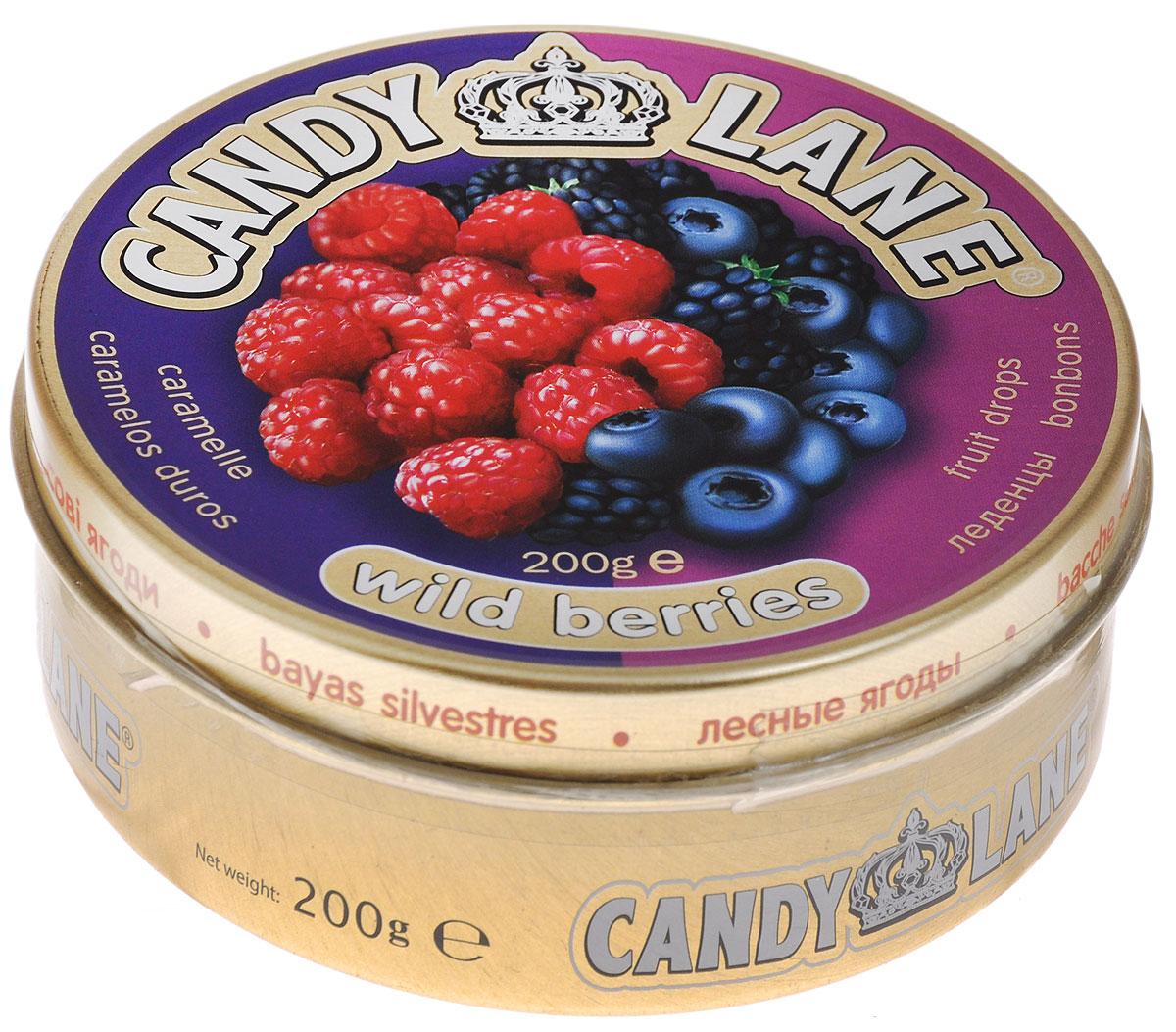 Candy Lane Лесные ягоды фруктовые леденцы, 200 г