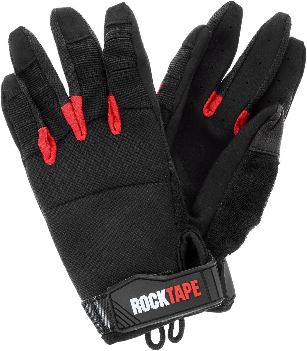 Перчатки Rocktape Talons, цвет: черный, красный. Размер SRTTls-SRocktape Talons - это функциональные перчатки для спорта. Руль велосипеда, турник, штанга - за что бы вы ни взялись, перчатки обеспечат максимальную защиту и поддержку! Уверенный хват и больше никаких стертых рук, волдырей и мозолей! Особенности перчаток: Дружелюбны к сенсорным экранам. Без швов на ладонях. Силиконовая накладка false-grip поможет в выходах силой. Защита большого пальца при захвате штанги. Впитывают пот. Дышащий материал по боковым поверхностям пальцев. Удобные петли. Рассчитаны на работу с мелом. Обхват ладони ниже костяшки: 18 см.