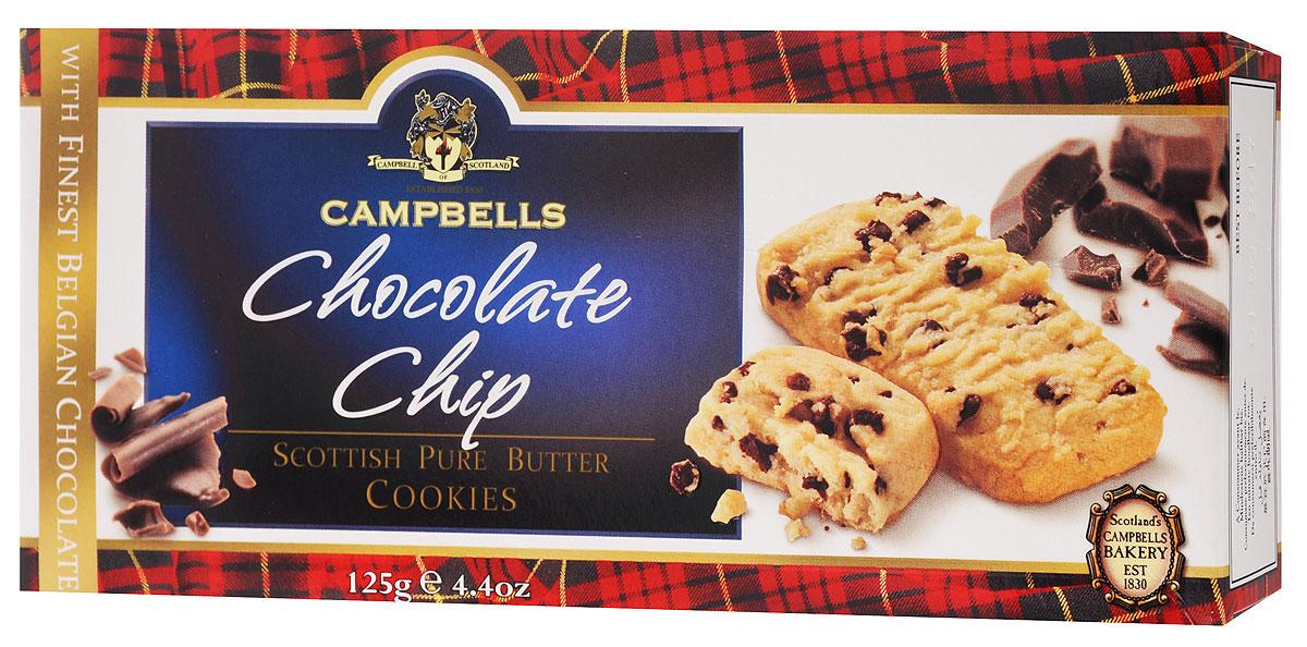 Campbells Pure Butter печенье песочное c кусочками шоколада, 125 г1520082Campbells Pure Butter - ароматное песочное печенье c кусочками шоколада от известнейшего бренда из Шотландии. Рецепт приготовления этого вкуснейшего печенья состоит исключительно из высококачественных ингредиентов и не меняется вот уже много лет.