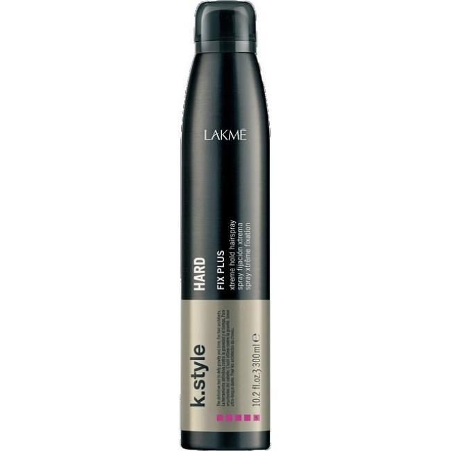 Lakme Спрей для волос экстра сильной фиксации Hard Xtreme Hold Spray, 300 мл46113Спрей для волос экстра сильной фиксации Lakme K Style Hard Идеально подходит для причесок из длинных волос. Не склеивает волосы. Устойчив к влажности. Обладает термозащитными свойствами. Древесно - травяной аромат. Степень фиксации - 5
