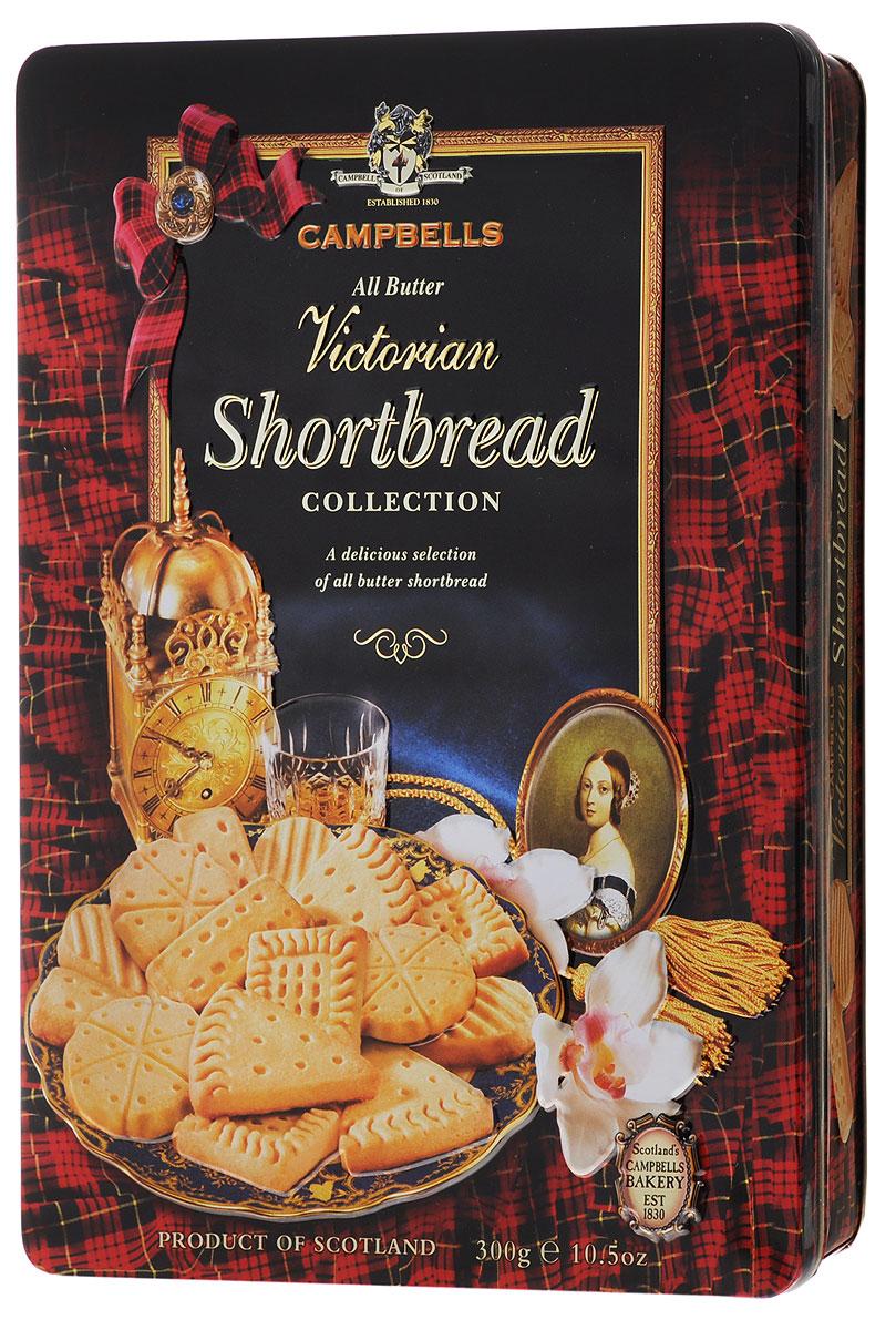 Campbells Victorian Shortbread печенье песочное, 300 г1520036Campbells Victorian Shortbread - легендарное песочное печенье из Шотландии. Производитель вот уже много лет не изменяет рецепт приготовления этого вкуснейшего печенья, который состоит преимущественно из натуральных ингредиентов.